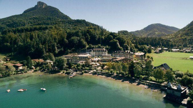 Blick auf Ebners Hotel