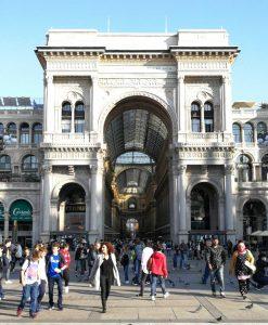 Eingang zur Galleria Vittorio Emanuele.