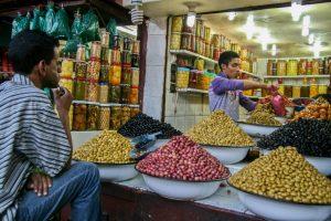 Olivenstand in der Medina